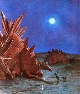 Stegosauri e juramaia